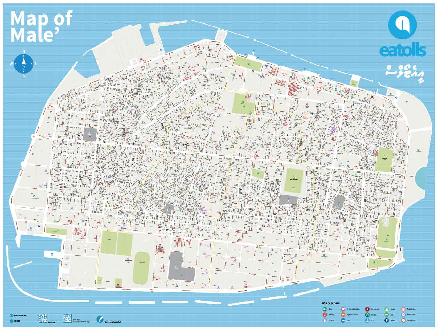Male Maldives Map Map of Male'   Eatolls